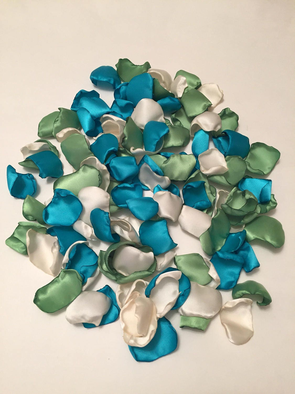Turquoise petals wedding