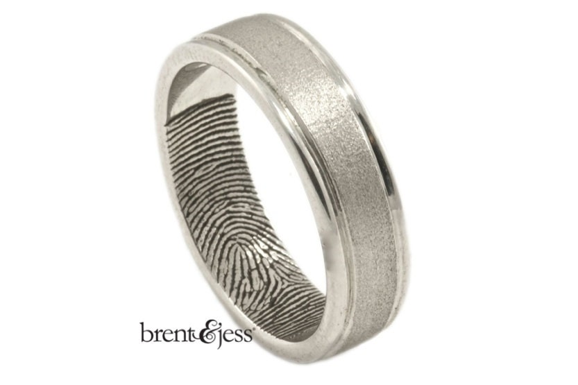 Modern Mens Wedding Band Sterling Silver Custom By Fabuluster