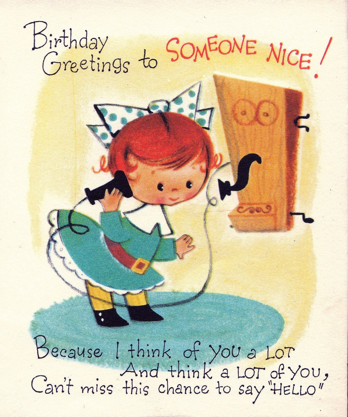 Funny Retro Birthday Wishes ~ Vintage s birthday greetings to someone by