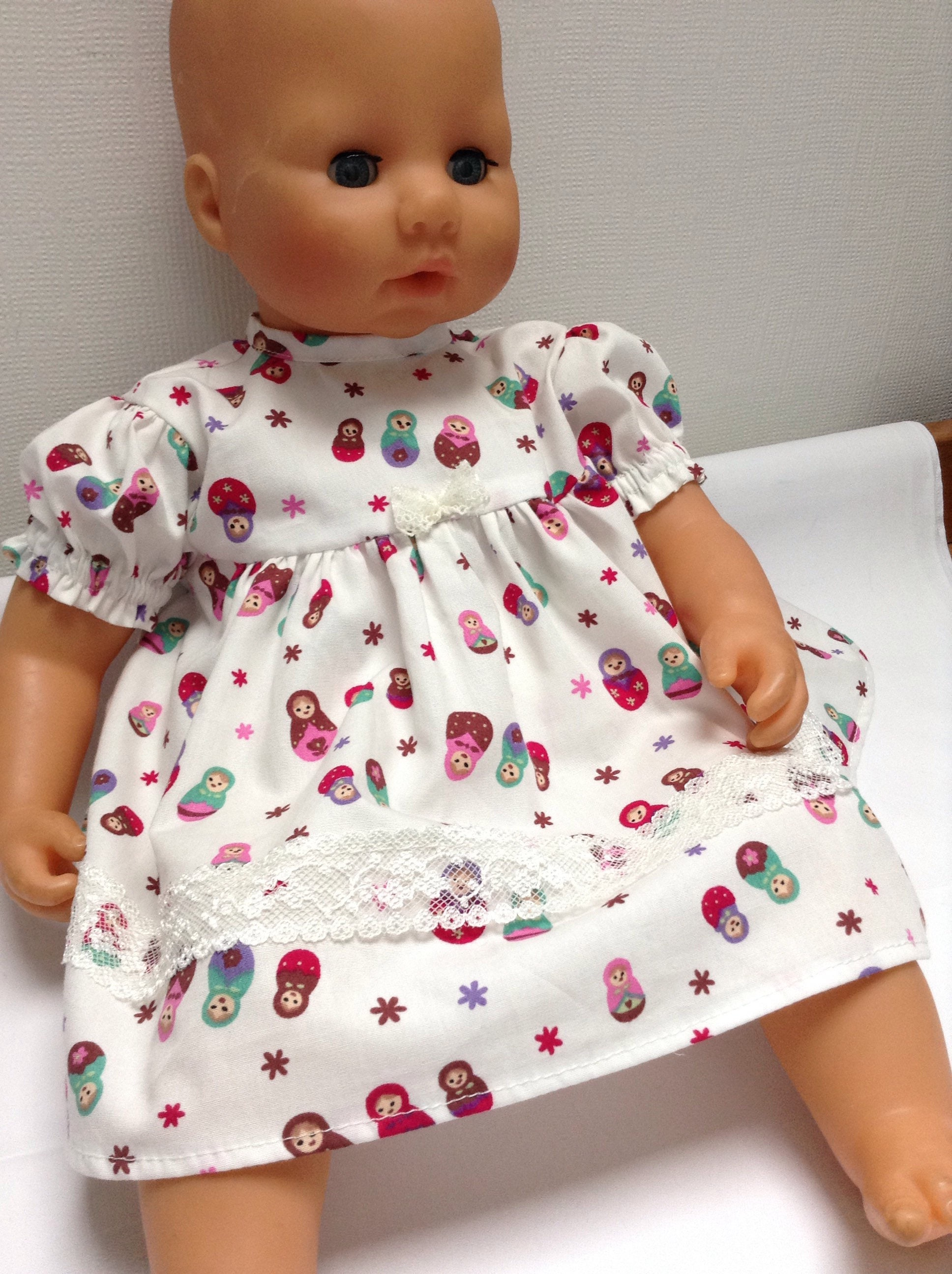 Dolls Clothes 18 inch (46cm) Dress  Panties to fit Baby Annabell and similar size baby dolls