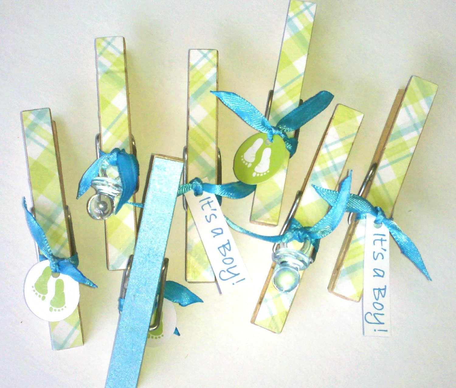 Decorative clothes pins for baby shower games royal by for Baby shower clothespin decoration