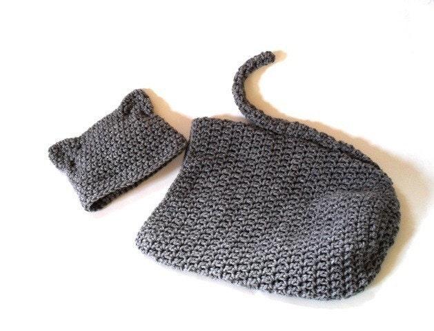 Crochet Cat Baby Cocoon Pattern : PDF crochet pattern...baby kitty cocoon by ...