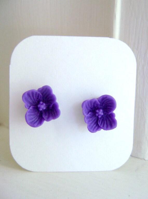 Purple  Buttercup Earrings