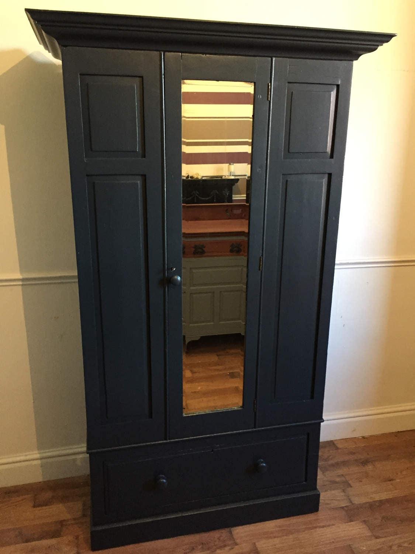 Pine mirror door wardobe refurbished in Railings