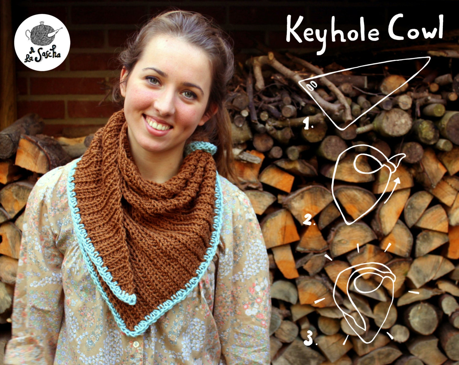 Keyhole Cowl crochet pdf pattern INSTANT DOWNLOAD