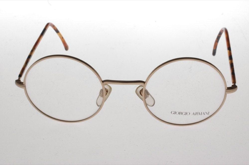 Giorgio Armani Round NOS vintage eyeglasses by skillermind