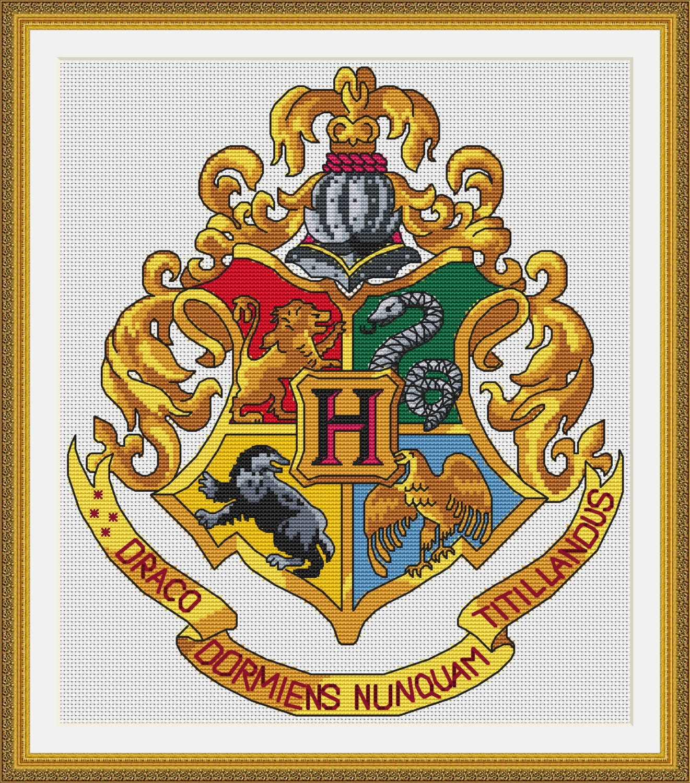 Герб хогвартс схема вышивки 389