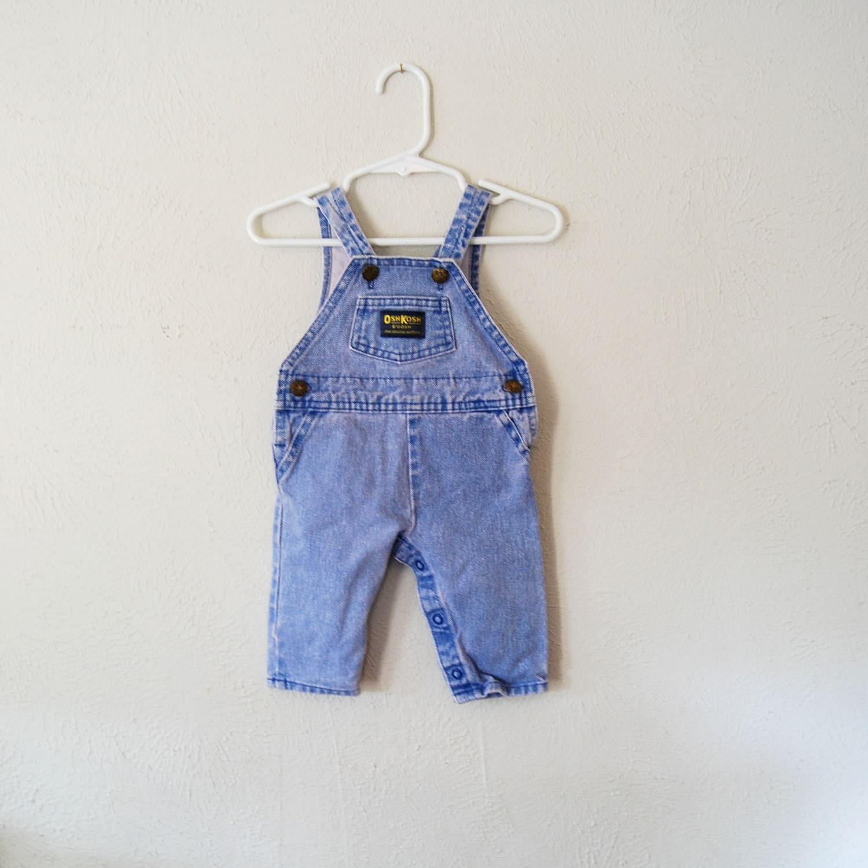 vintage baby acid wash oshkosh overalls - olliesvintage
