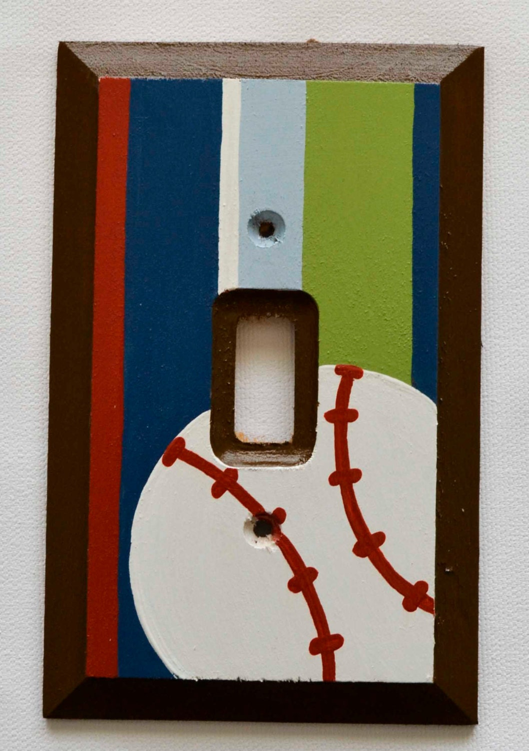 Baseball Light Switch Cover Switch Plate By Frogsandfairytales
