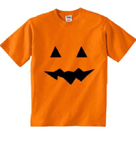 Halloween Jack o Lantern Pumpkin Face kids TShirt. costume