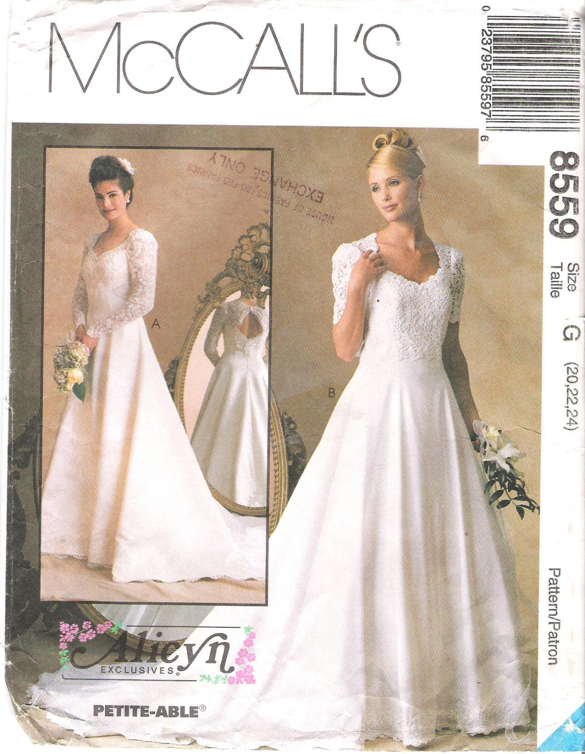 Items Similar To McCalls 8559 Wedding Dress Sewing Pattern Large Size On Etsy