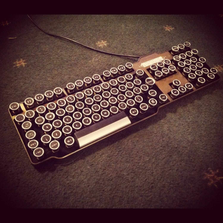 Fine Handcrafted Bioshock Art Deco Steampunk Keyboard - HannaLTD