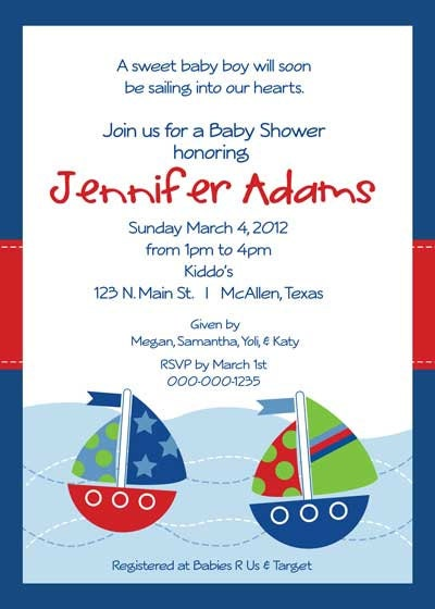 Baby Shower Invitation Baby Sailor For Boy By Belleprintables