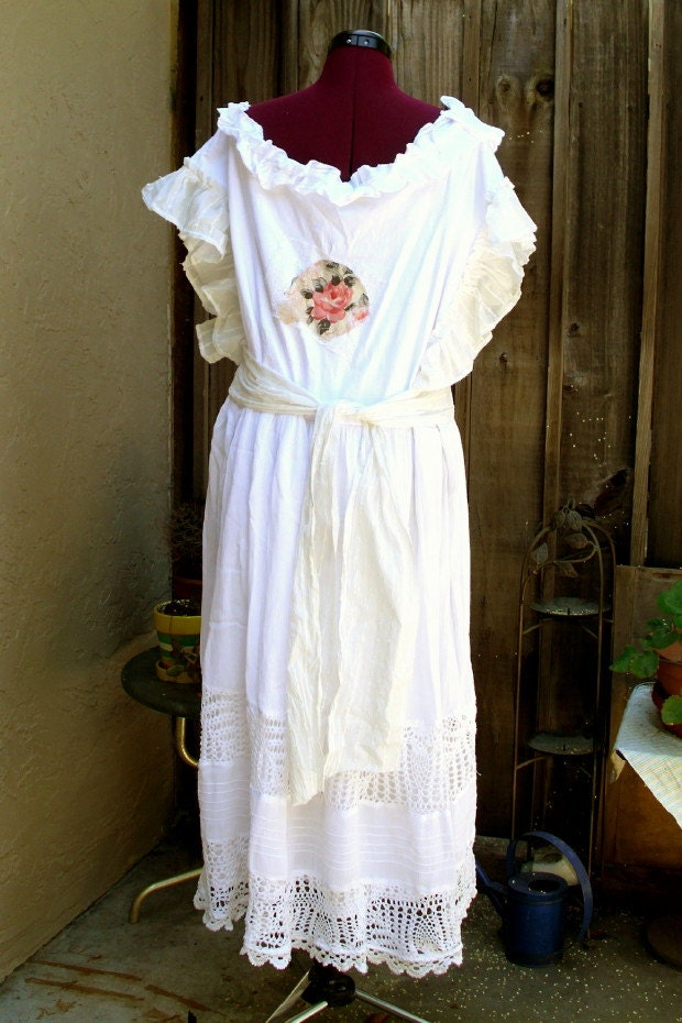 Sale Rustic French Country Dress Bohemian Wedding By KheGreen