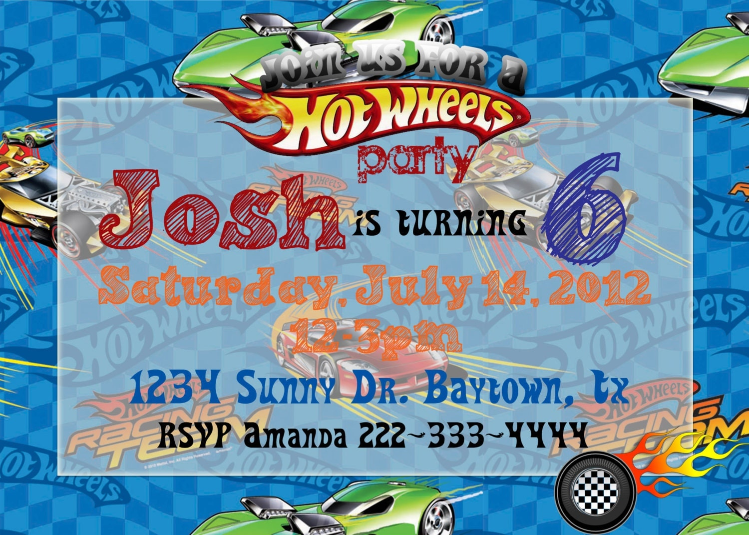 Hot Wheels Birthday Invitations and get inspiration to create nice invitation ideas