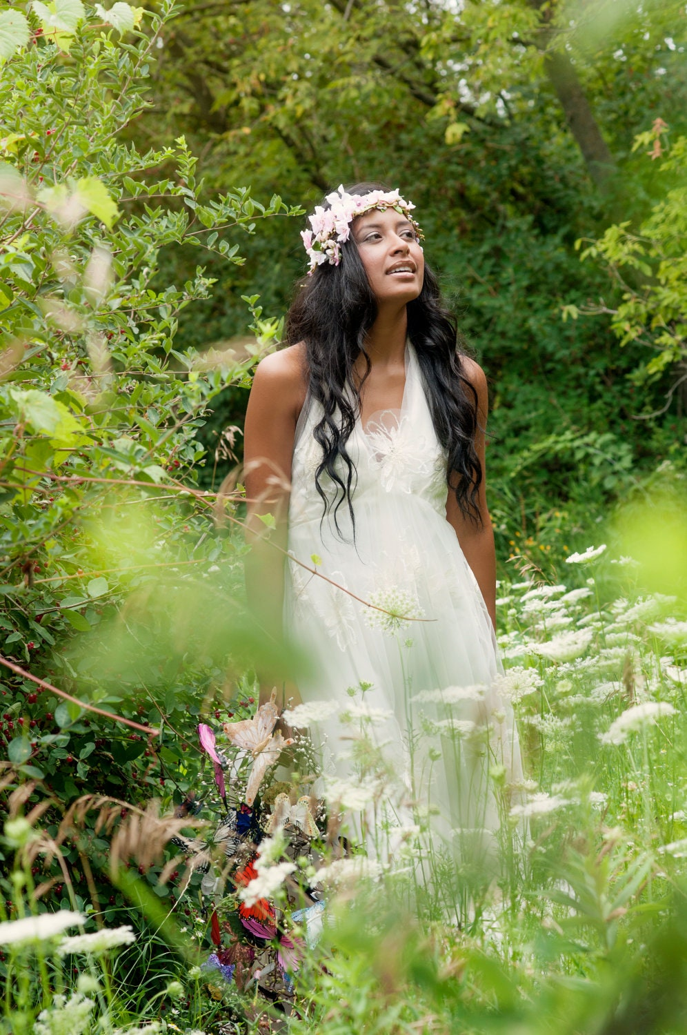 Wood nymph Fairy Floral wedding headpeice by ...