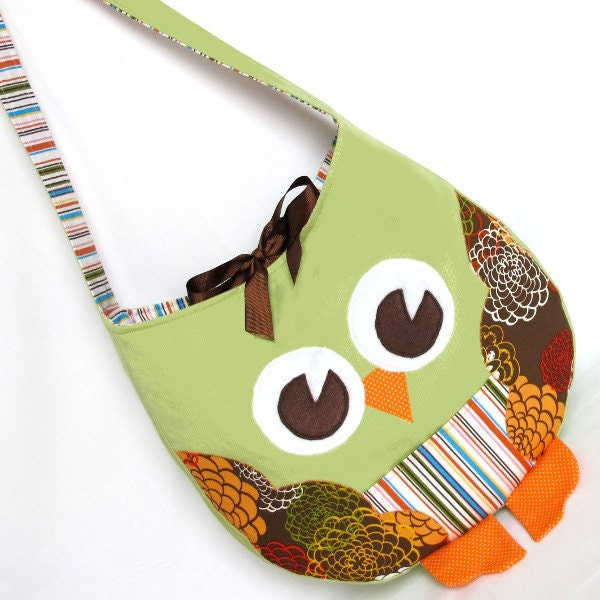 Funky Little Owl Bag, a pdf sewing pattern