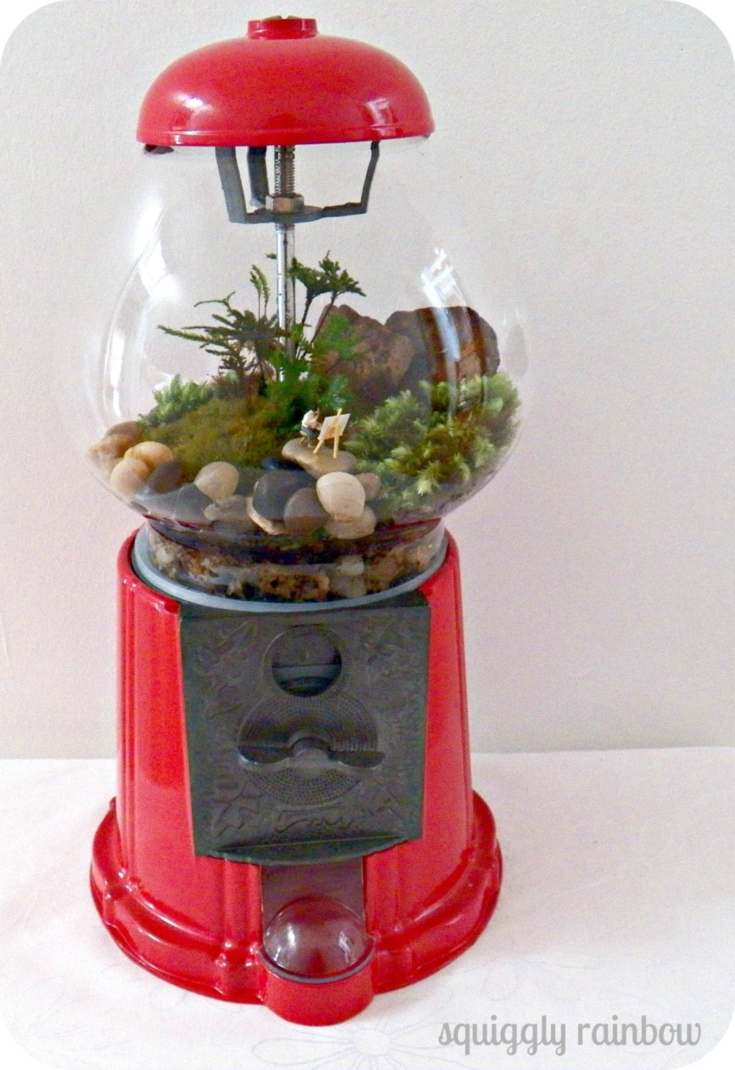 terrarium gumball machine quirky australian squiggly rainbow etsy mini garden