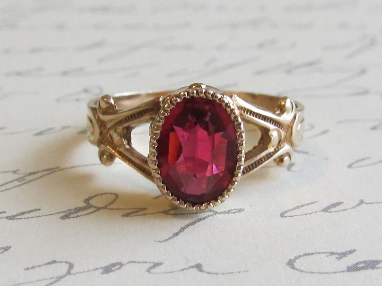 anubis ruby ring 14k yellow gold engagement ring
