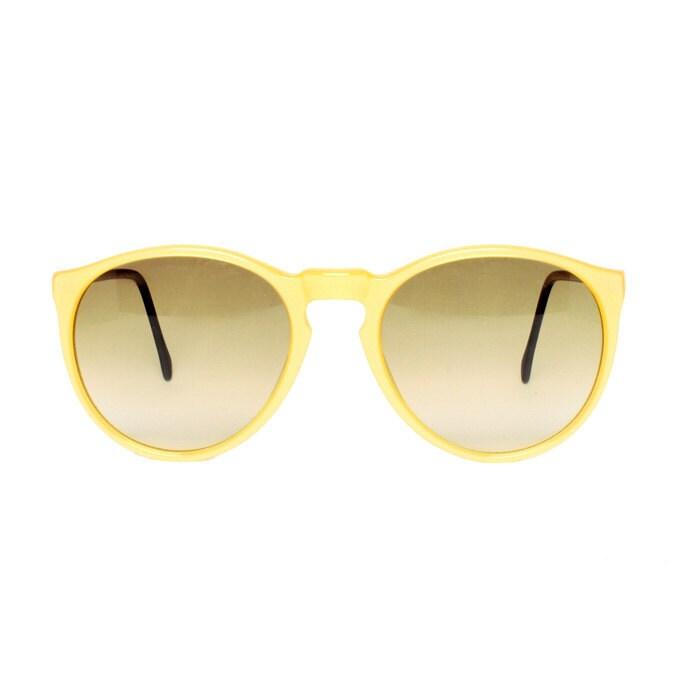Samba amarillo glace round Vintage Sunglasses - MODvintageshop
