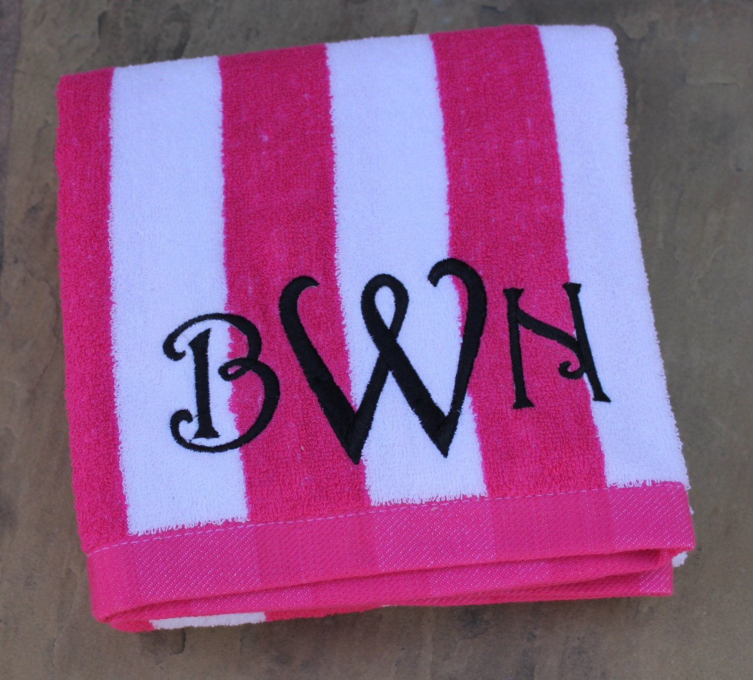 Custom Embroidered Beach Towel By SunnyStitches1 On Etsy