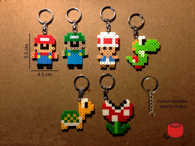 Perler Bead Mario Characters