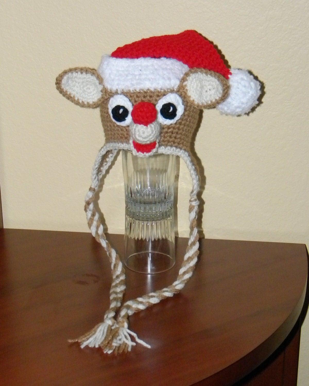 Crochet Pattern For Rudolph Hat : Crochet Pattern 035 Christmas Santa Rudolph by desertdiamond