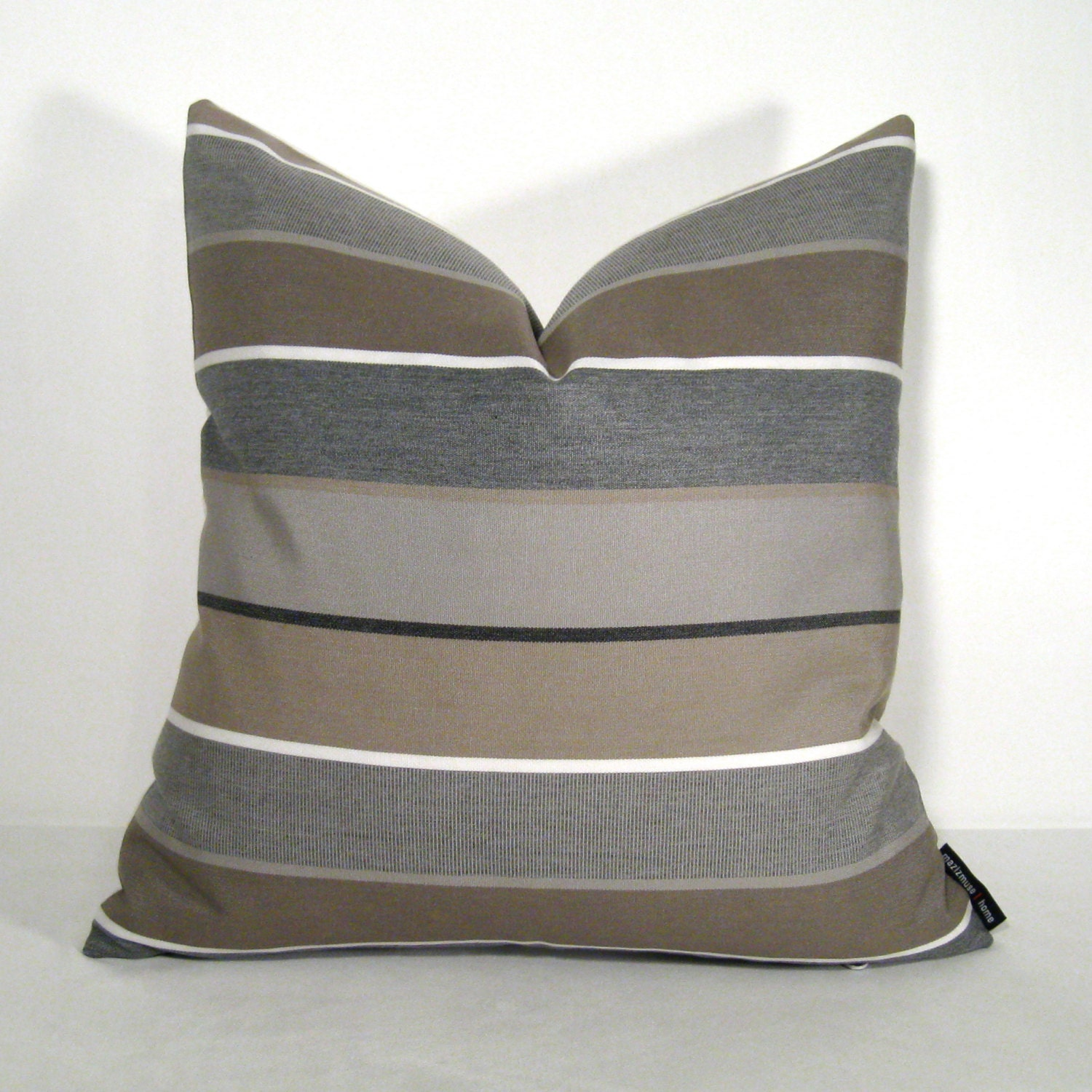 grey pillow cover brown gray outdoor indoor modern by mazizmuse. Black Bedroom Furniture Sets. Home Design Ideas