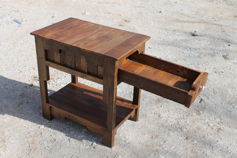 palet reciclada mesa auxiliar