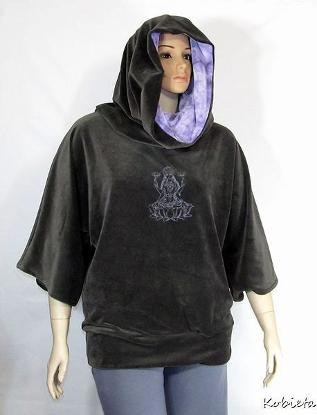 Kobieta Avant Garde Cowl Tunic~Modern Goth~Custom Size