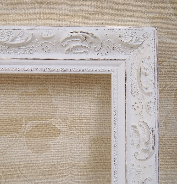 shabby chic frames picture frames white by mountaincoveantiques. Black Bedroom Furniture Sets. Home Design Ideas
