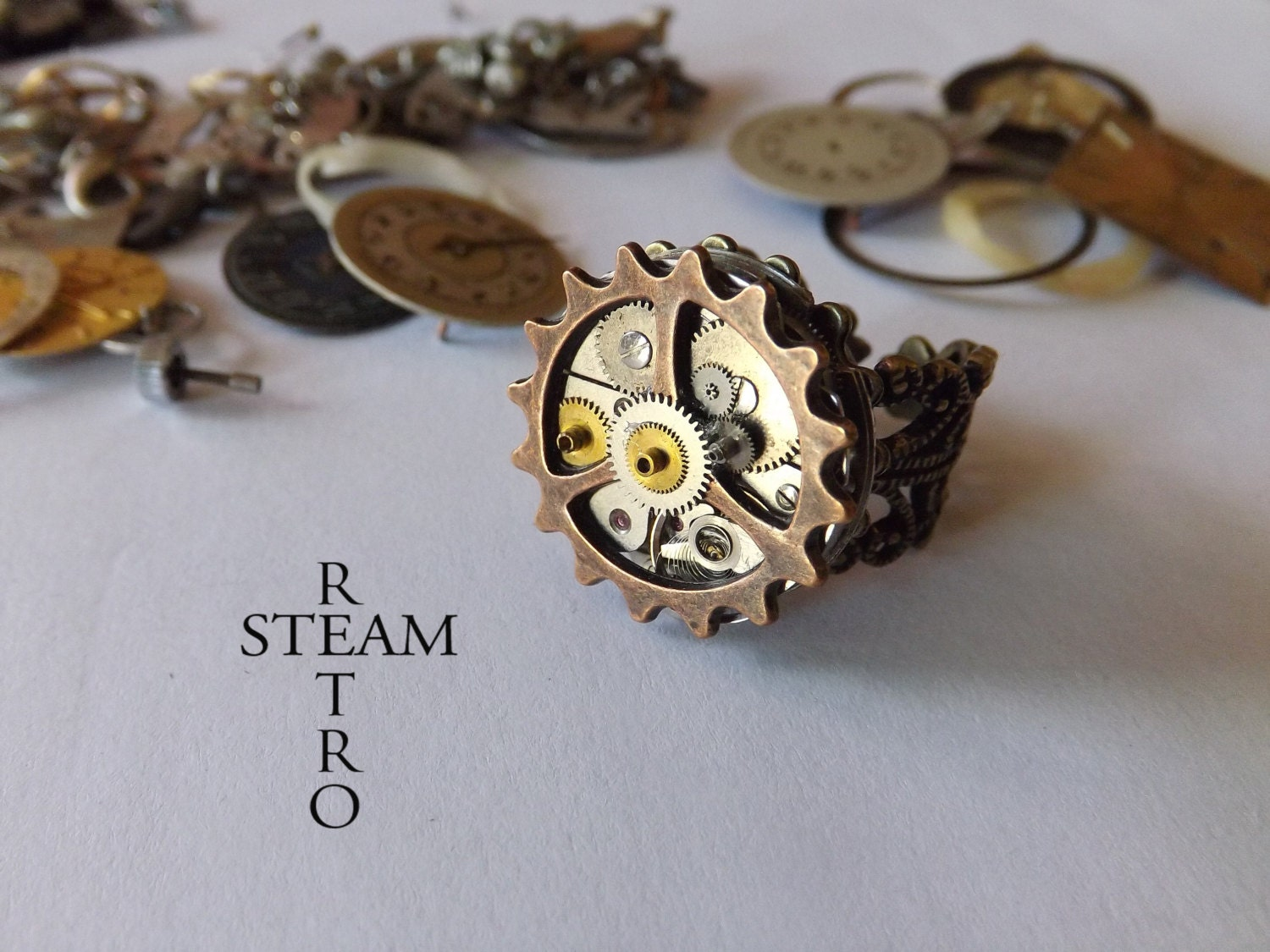 The Anarchy Punk Steampunk ring - Steampunk Jewelry by  Steamretro - SteamRetro