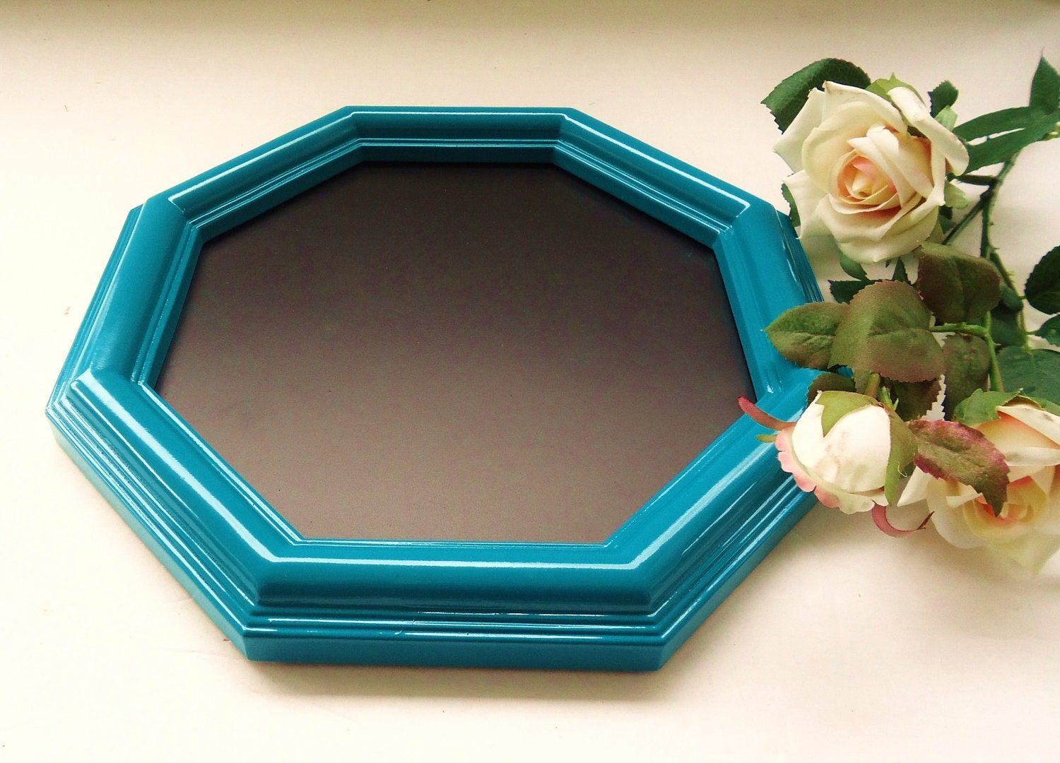 Ornate Teal Chalkboard - Wedding Chalkboard - Framed Chalkboard -Small Chalkboard -Table Chalkboard -Shabby Chic Chalkboard -Aqua