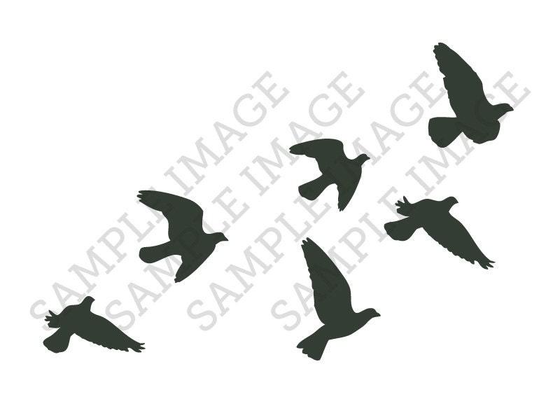 flock of birds silhouette tattoo. Black Bedroom Furniture Sets. Home Design Ideas