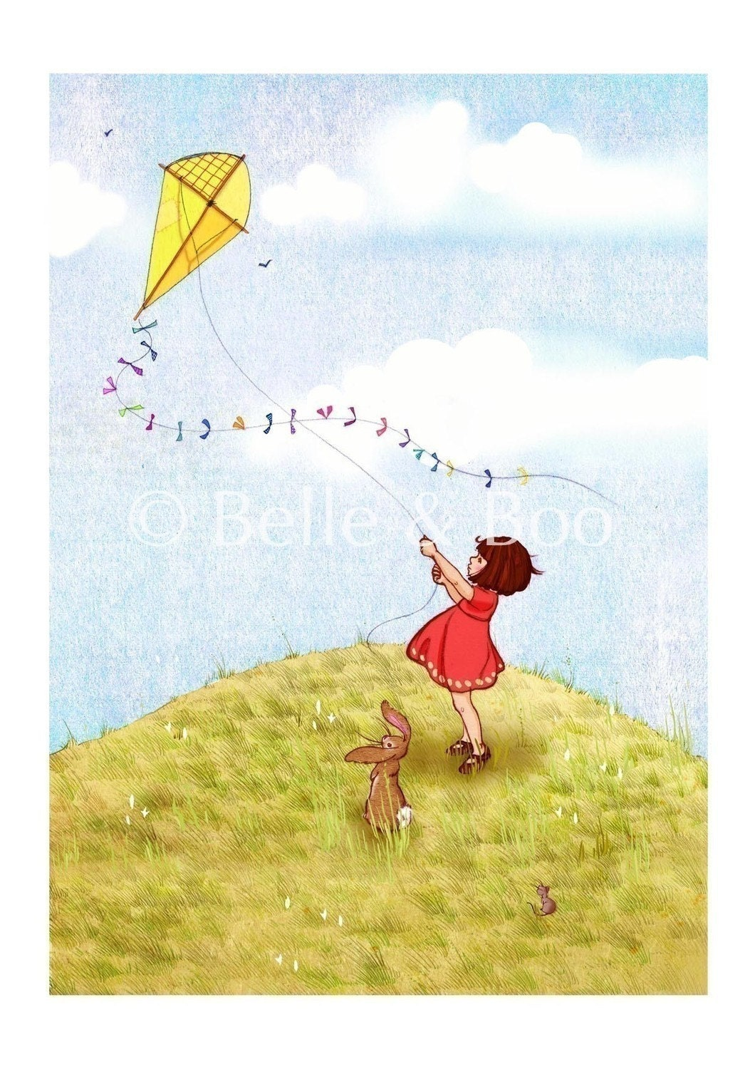Belle and Boo Fly a Kite