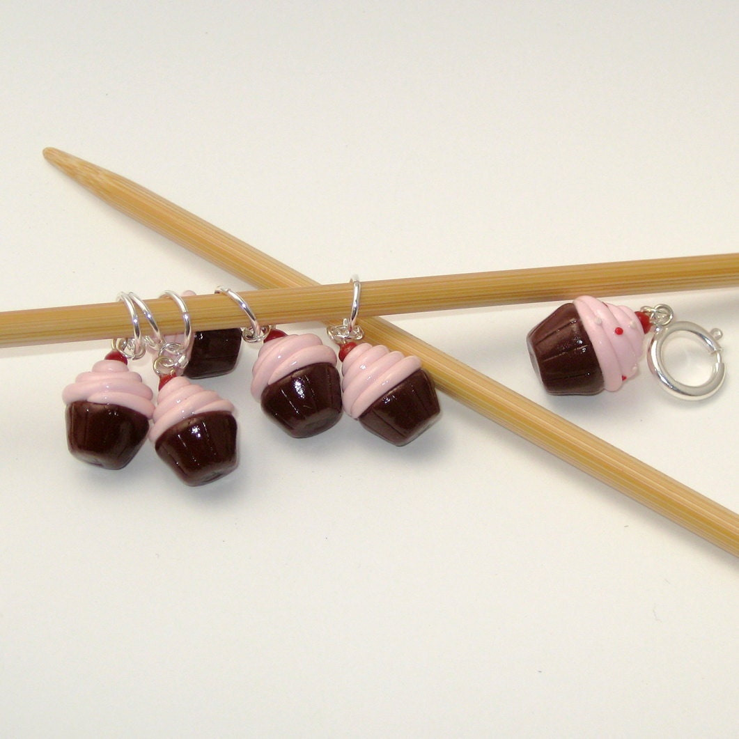 Cupcake Knitting Stitch Markers