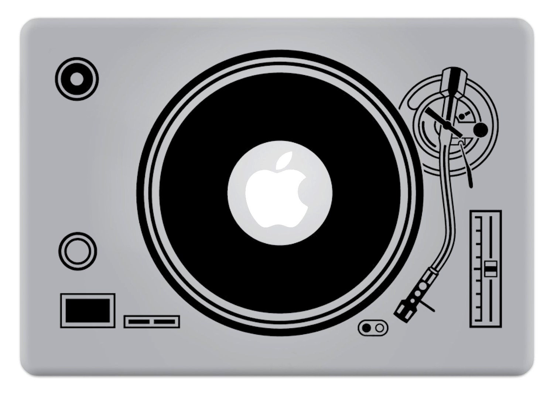 Turntable Apple Mac Laptop Sticker