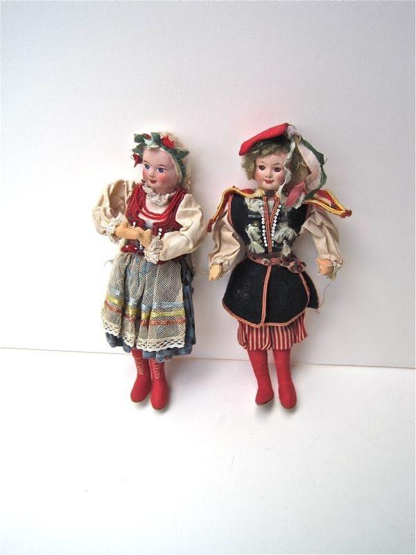 Vintage Dolls Traditional Polish Folk Costume FREE by WaveSong