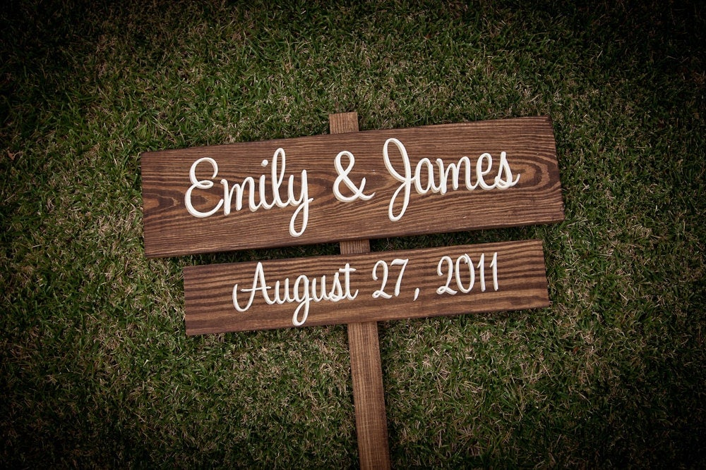 Items Similar To CUSTOM Wooden Wedding Signs