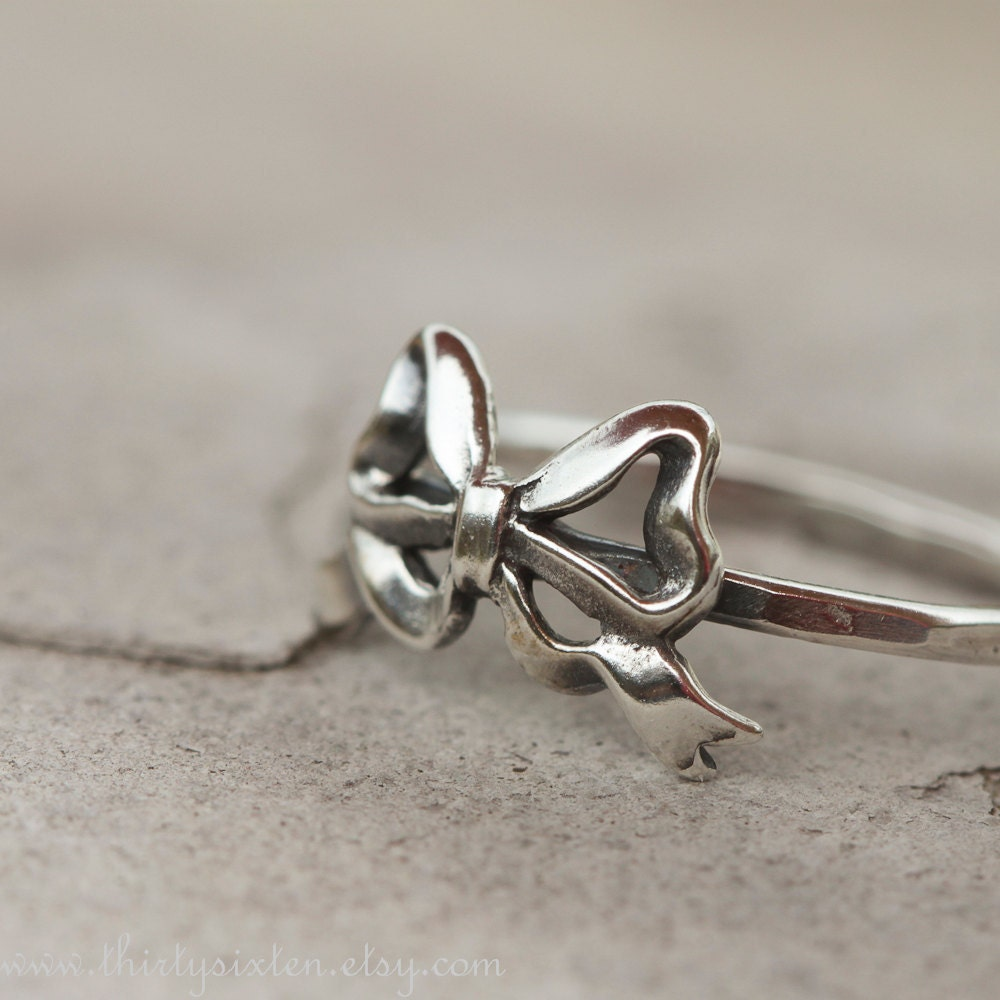 Bow Ring Sterling Silver Stacking