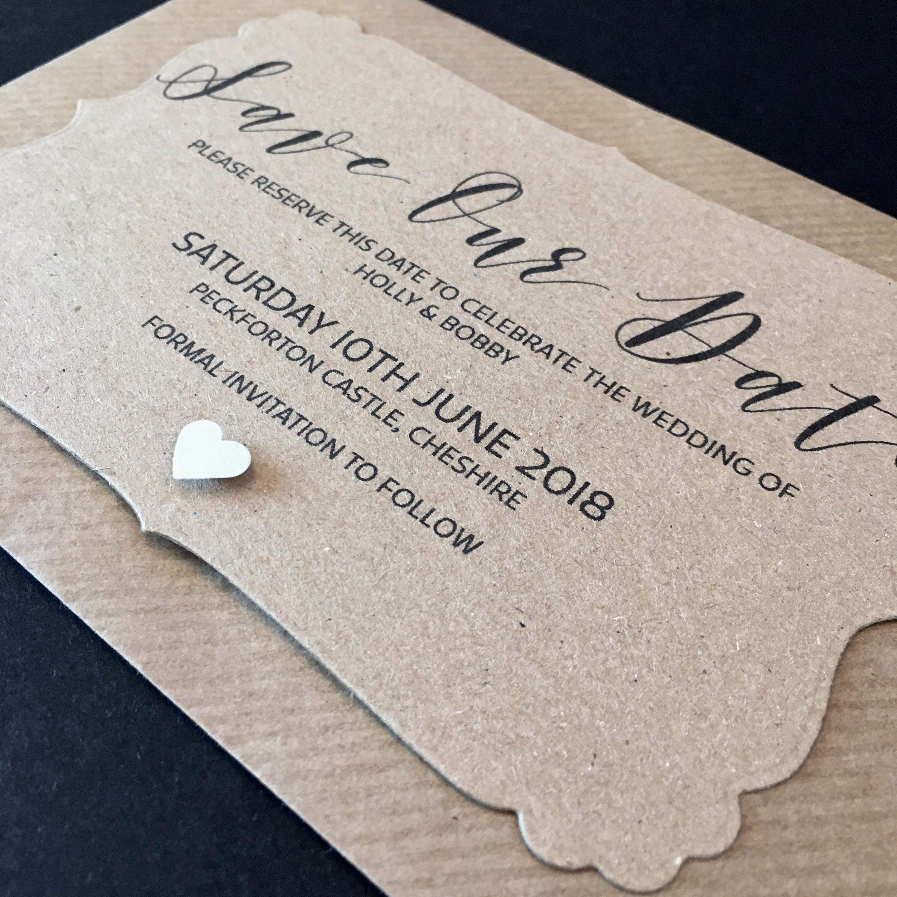 Personalised Save The Dates Save The Date Card Rustic Save The Date Vintage Save The Date Rustic Wedding Save Our Date Vintage Wedding