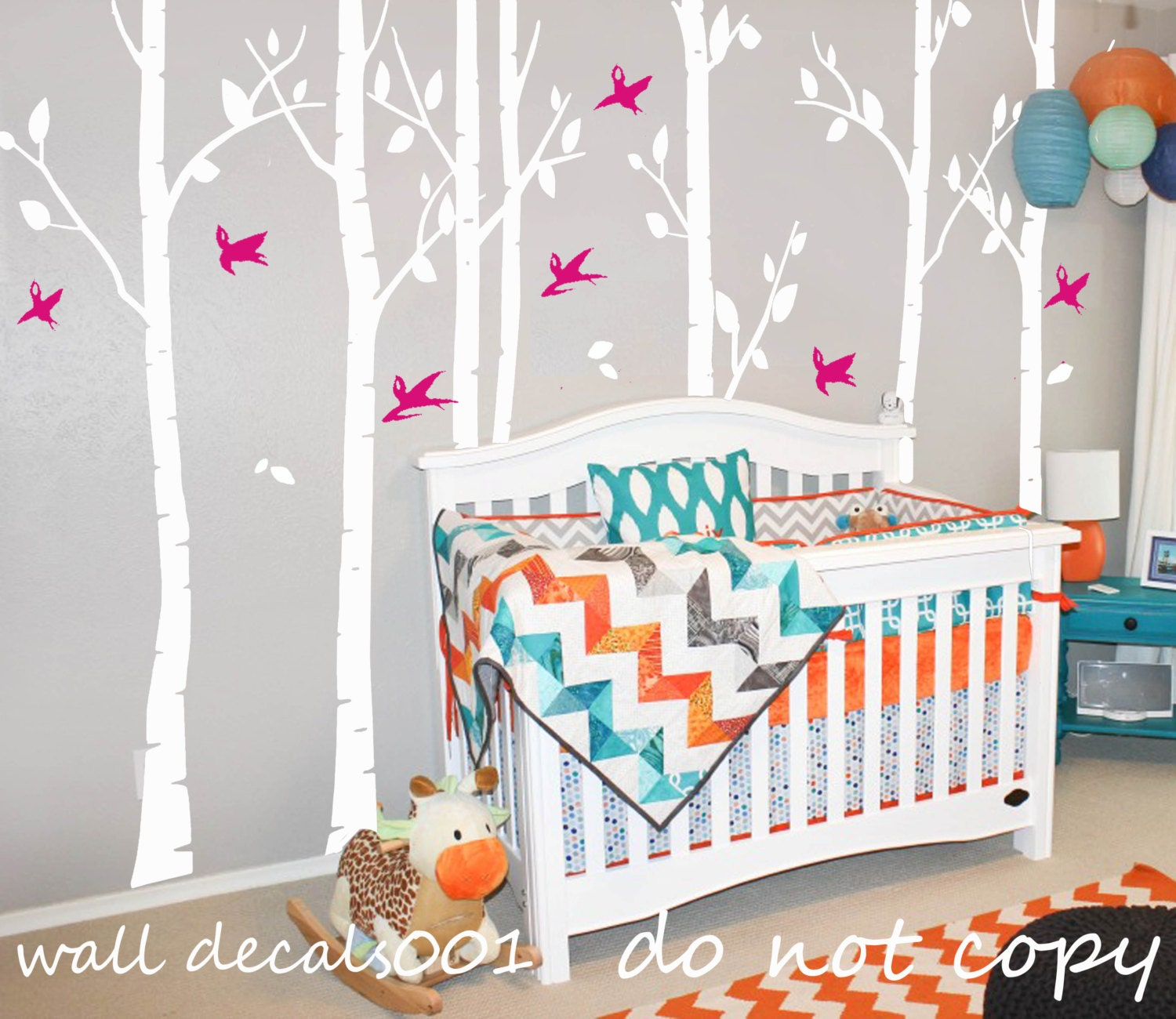 15  white Tree Wall Decals wall Stickers wall decor,tree,decal,kids