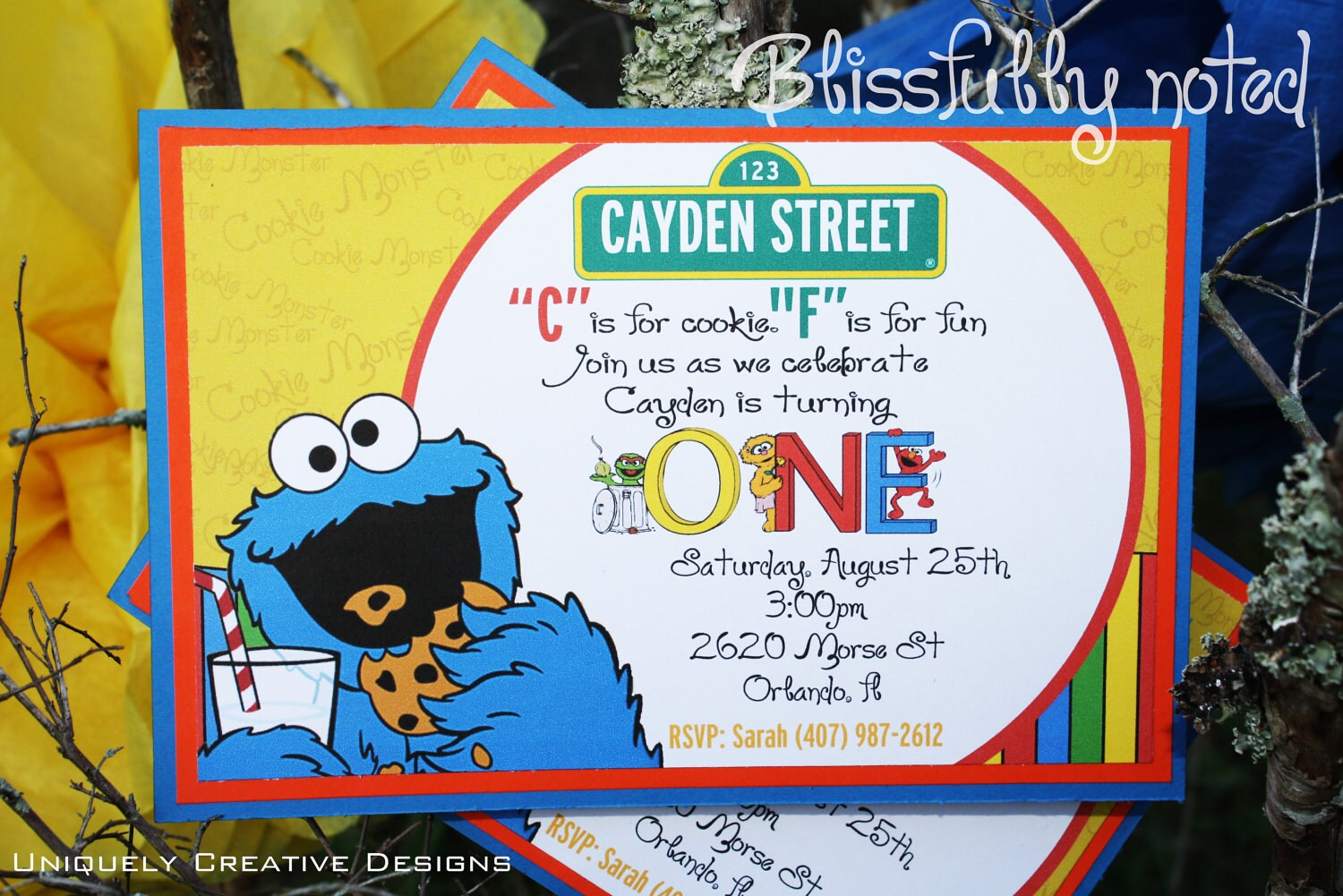 Sesame Street Invitations Digital File by BlissfullyNoted on Etsy