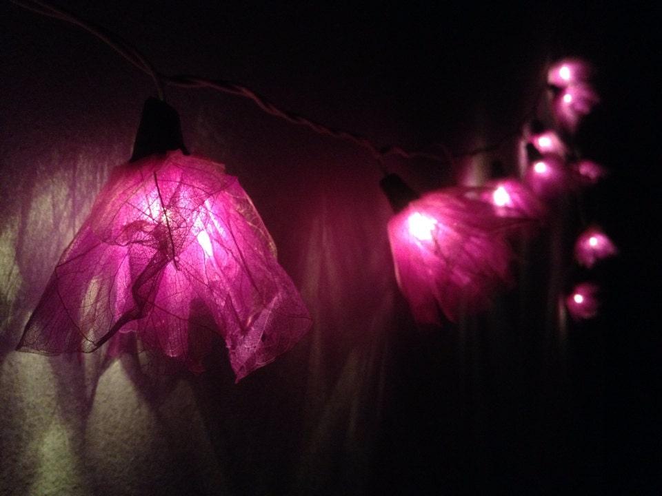 String Lights Flower Indoor : Fairy string lights - 20 Purple Carnation Flower String Lights Wedding Party Home Decoration ...