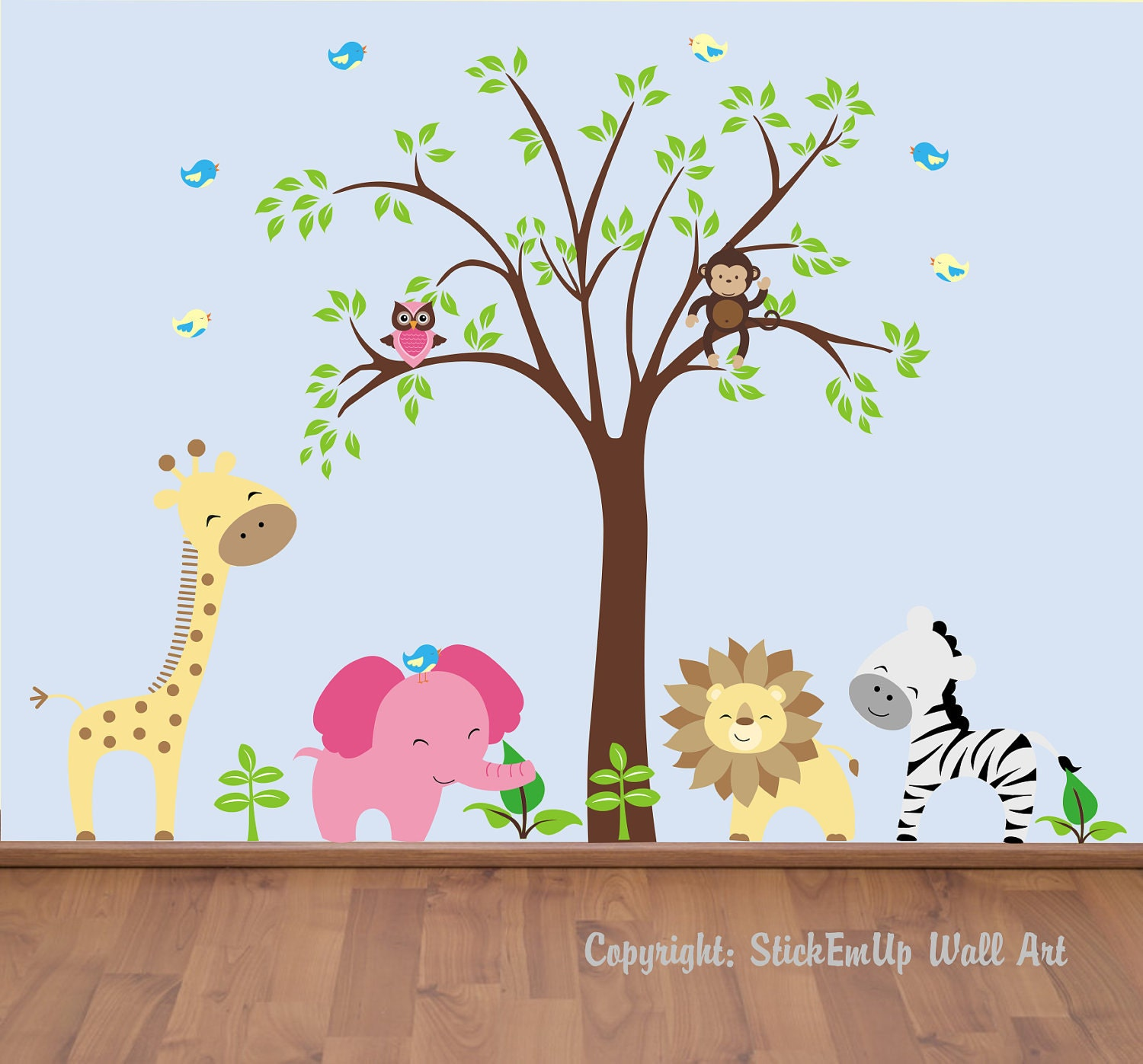 Baby wall decals 131a nursery wall decals by stickemupwallart for Baby nursery wall decoration