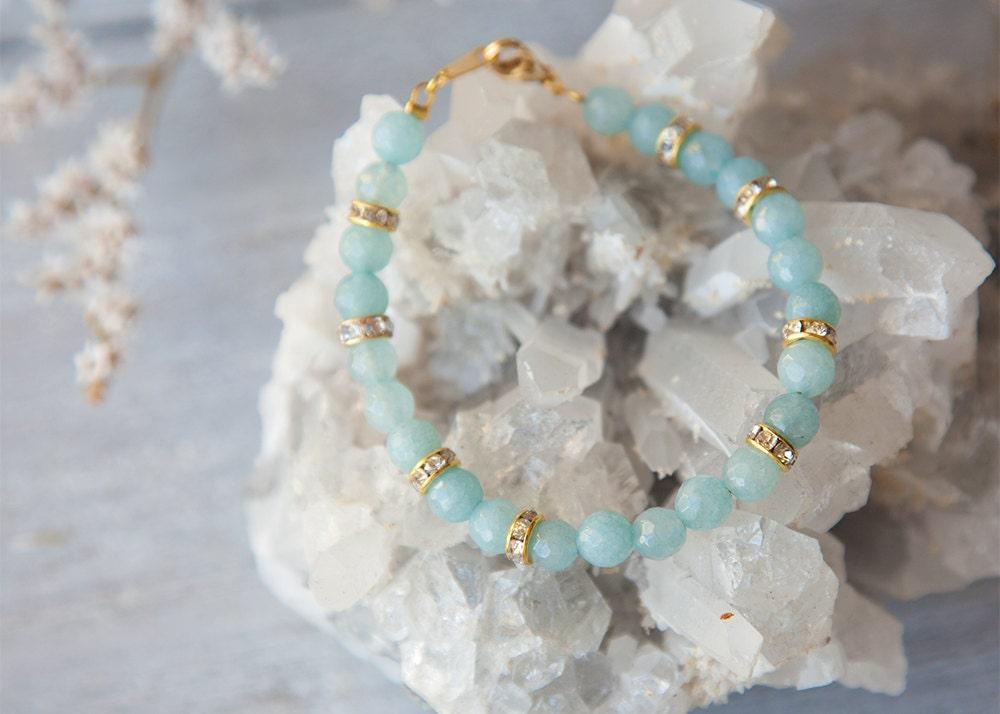 Aquamarine Bracelet Real Aquamarine Bracelet Aquamarine Bracelet for Her March Birthstone Jewelry Genuine Aquamarine Jewelry Boho Luxe
