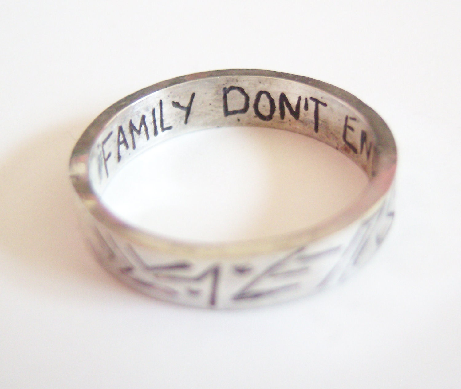 Silver Blood Family Ring