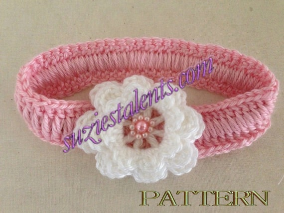 Crochet Headband Pattern For Baby With Flower : 301 Moved Permanently