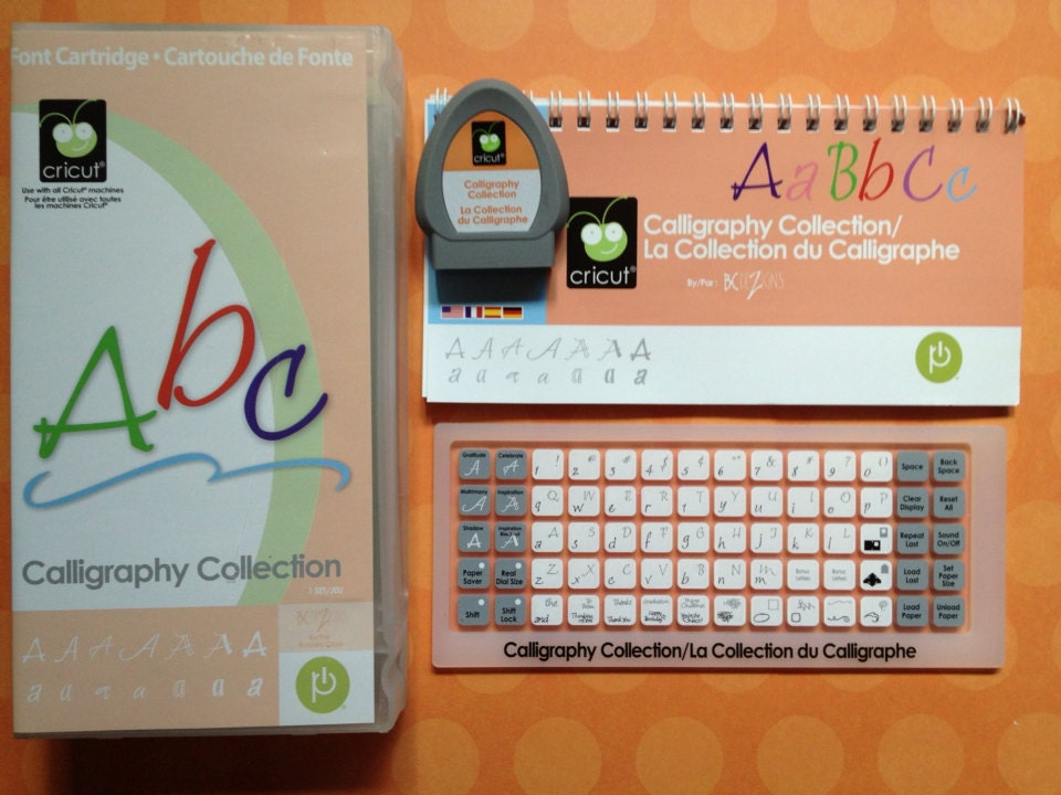 Calligraphy Collection Cricut Cartridge Pre Owned By