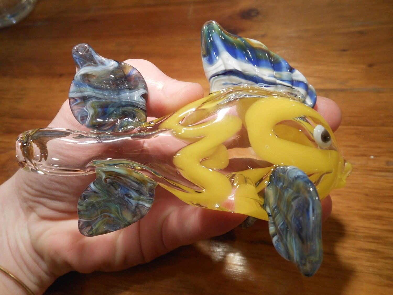 Glass pipe blown glass fish bowl fish pipe by primoglass for Glass fish pipe